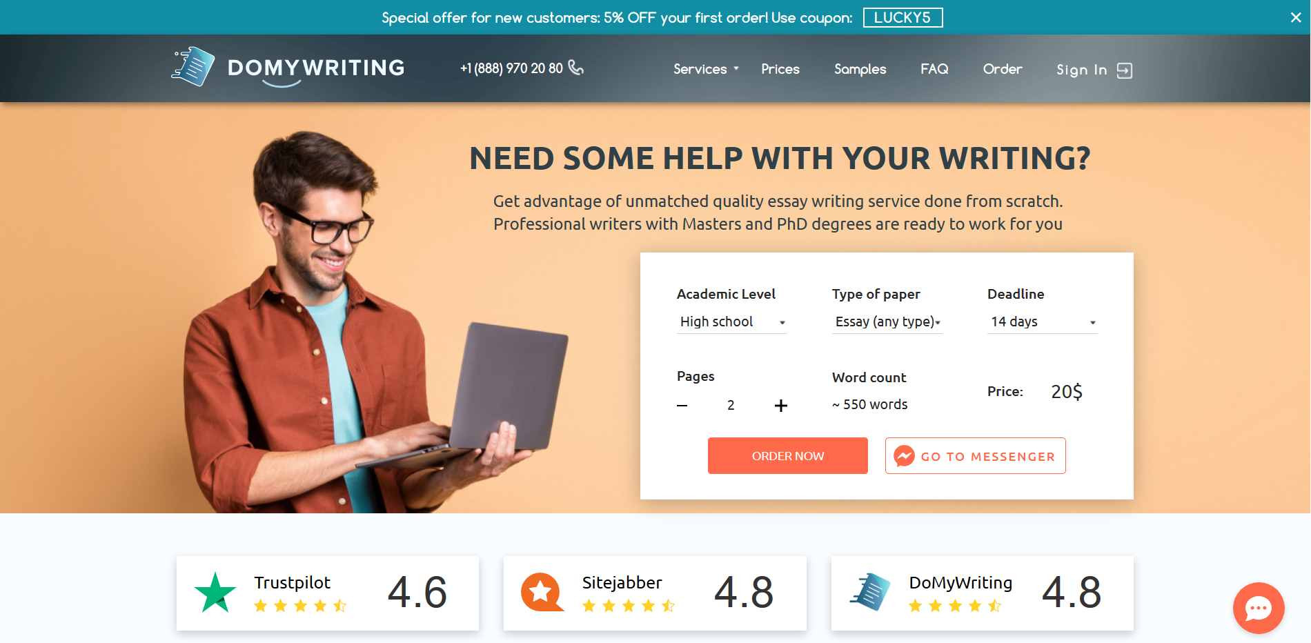 domywriting.com overview