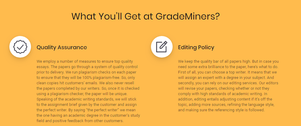 Grademiners Quality