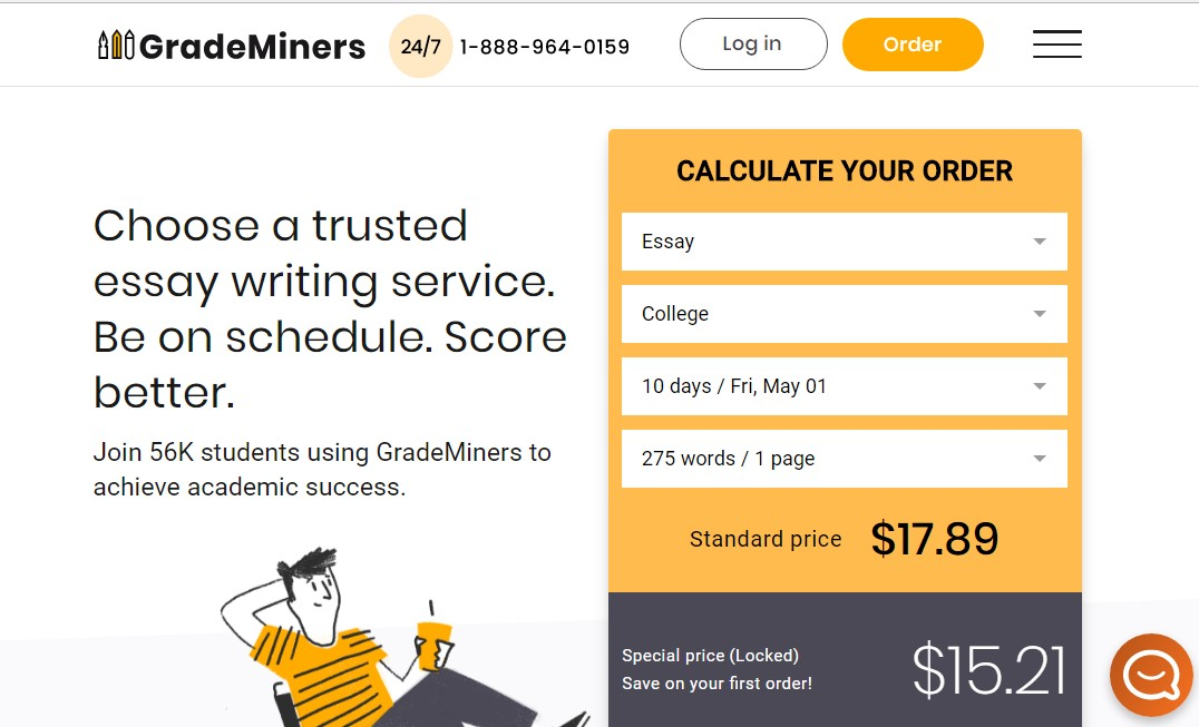 grademiners.com overview