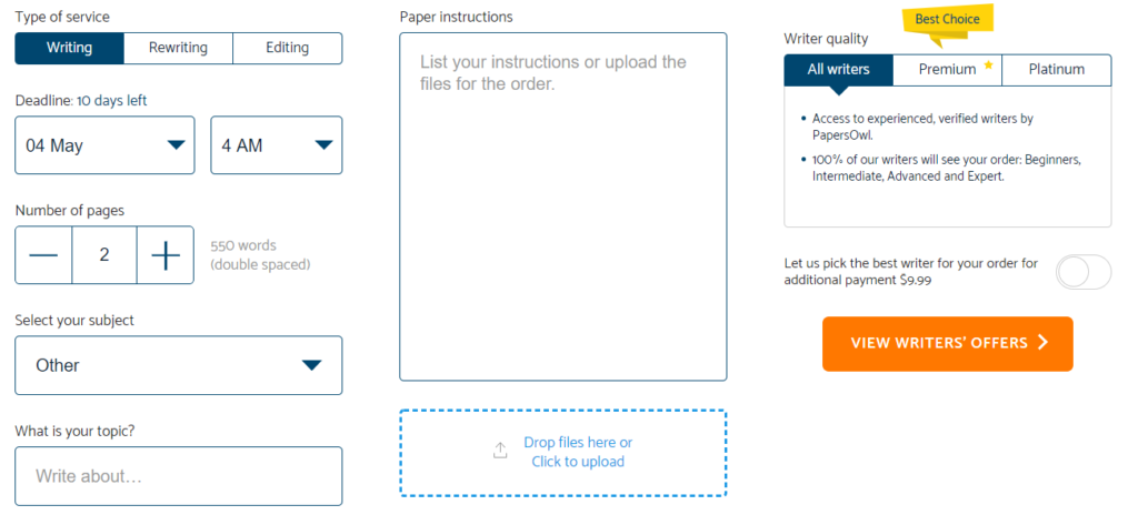 Papersowl.com Order