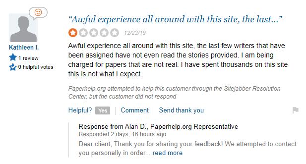 Paperhelp.org Feedback