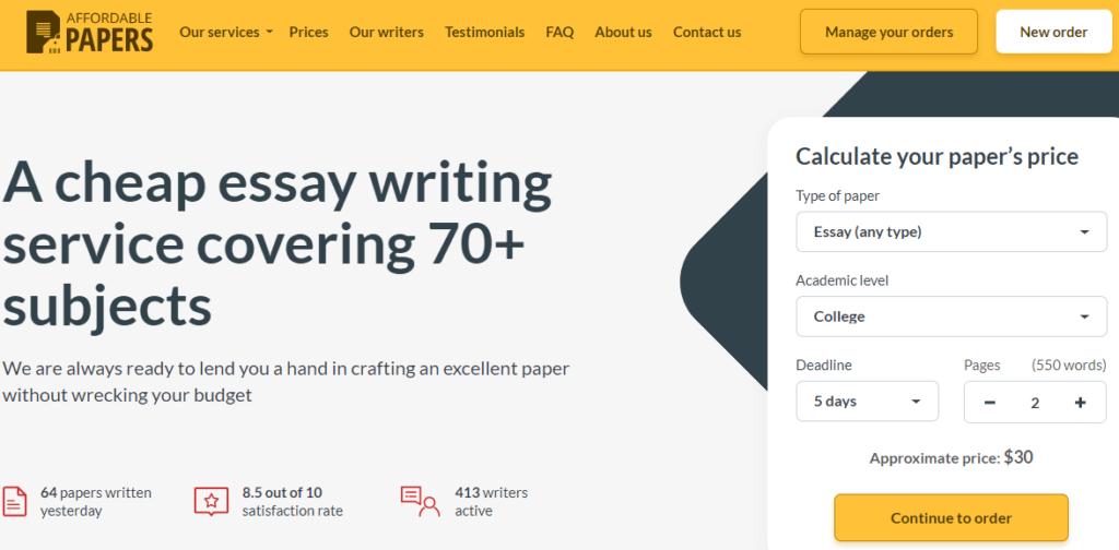 affordablepapers-website-review
